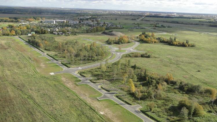 Virumaa Tööstuspargi teedeehitus Vaivara vallas Narva külje all. Foto: Aare Rebban